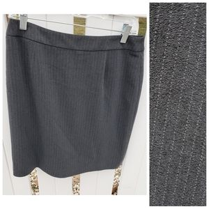 NWT Doncaster Black Pinstripe Mini Pencil Skirt